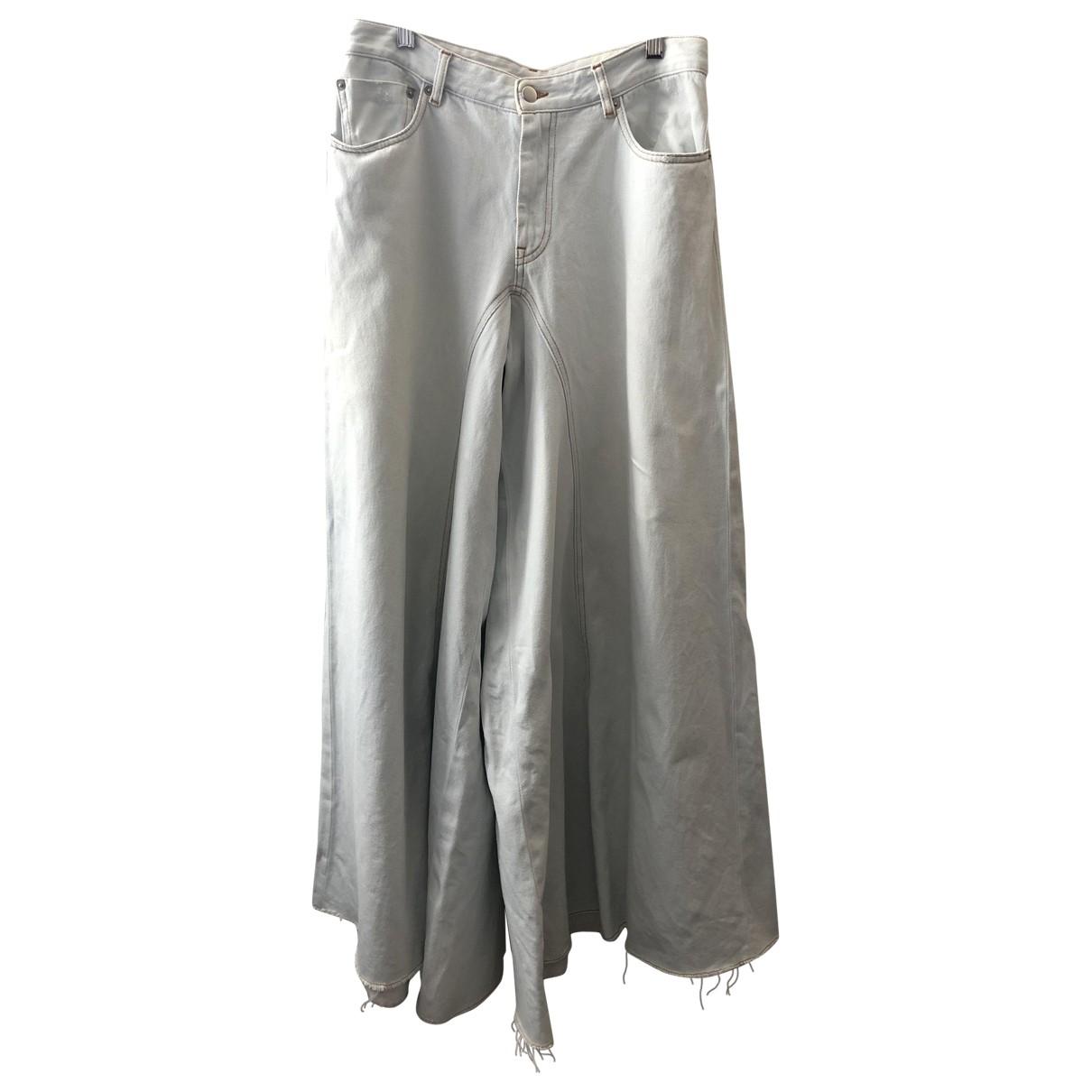 Mm6 \N Blue Denim - Jeans Trousers for Women 42 FR