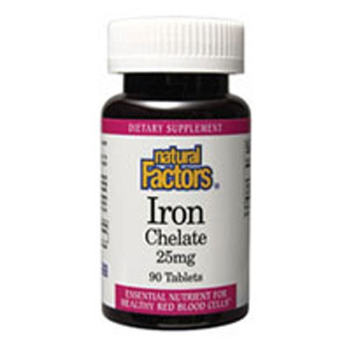 Iron Chelate 90 Tabs by Natural Factors