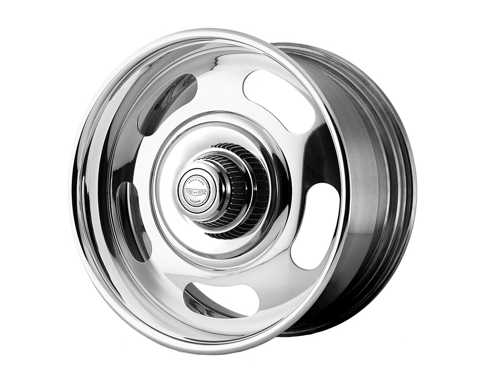 American Racing VN327 Rally Wheel 17x8 Blank +0mm Two-Piece Chrome Center Polished Barrel