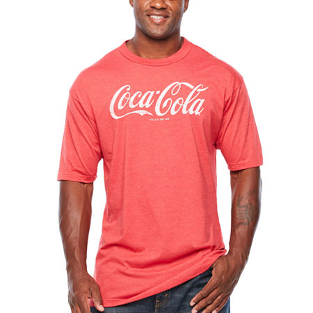 Big and Tall Coca Cola Mens Crew Neck Short Sleeve Graphic T-Shirt, 4x-large Tall , Red