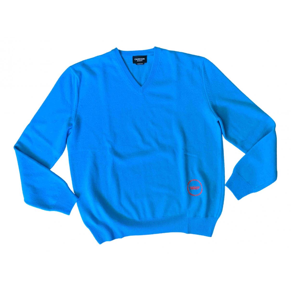 Calvin Klein 205w39nyc - Pulls.Gilets.Sweats   pour homme en cachemire - bleu