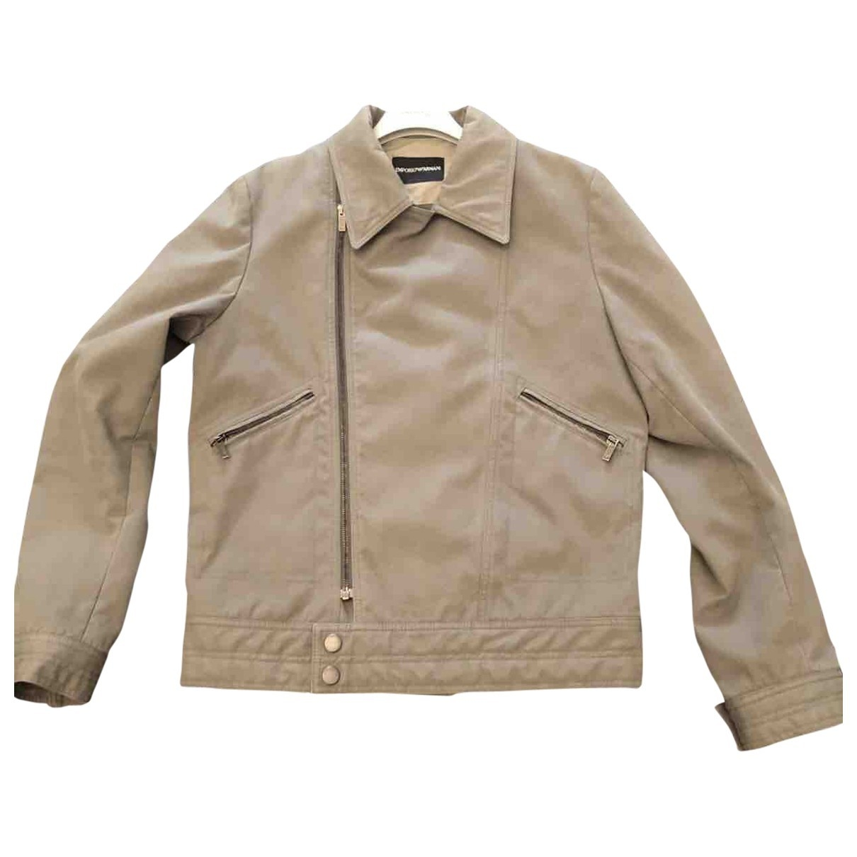 Emporio Armani \N Green Cotton jacket  for Men 48 IT