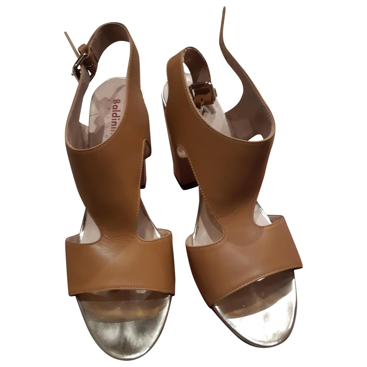 Baldinini - Sandales   pour femme en cuir - camel