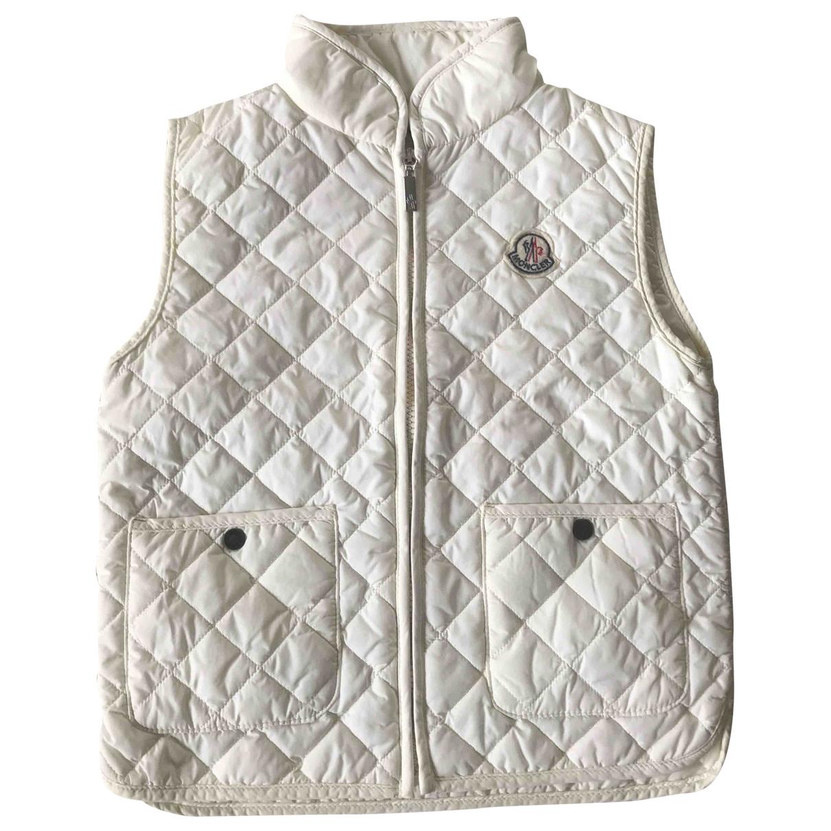 Moncler - Blousons.Manteaux Sleeveless pour enfant - ecru