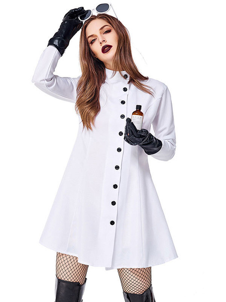 Milanoo Halloween Costumes Women\s Nurse Sexy White Clothes Gloves Halloween Holidays Costumes