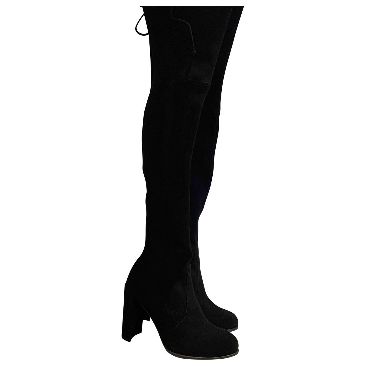 Stuart Weitzman \N Black Suede Boots for Women 5.5 UK