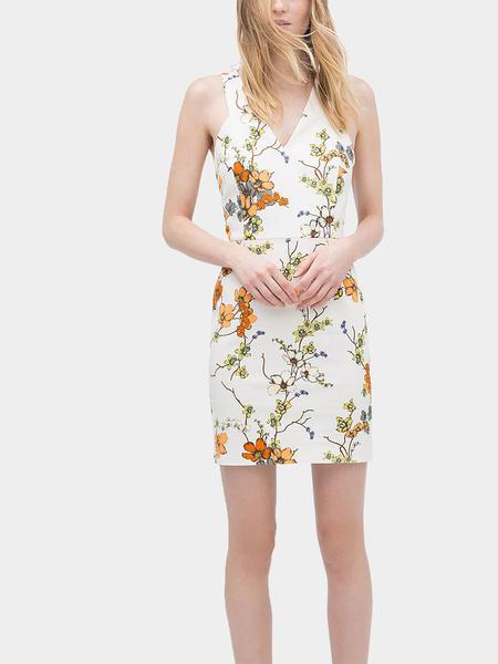 Yoins Floral Print Tank Dress