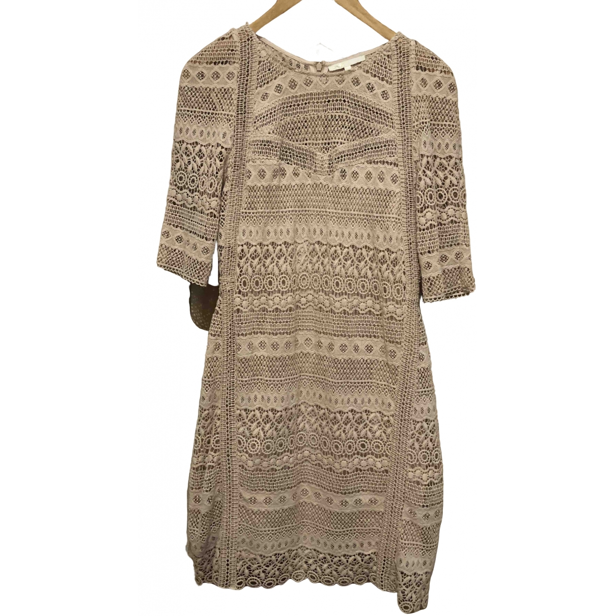 Maje \N Beige Cotton dress for Women 3 0-5