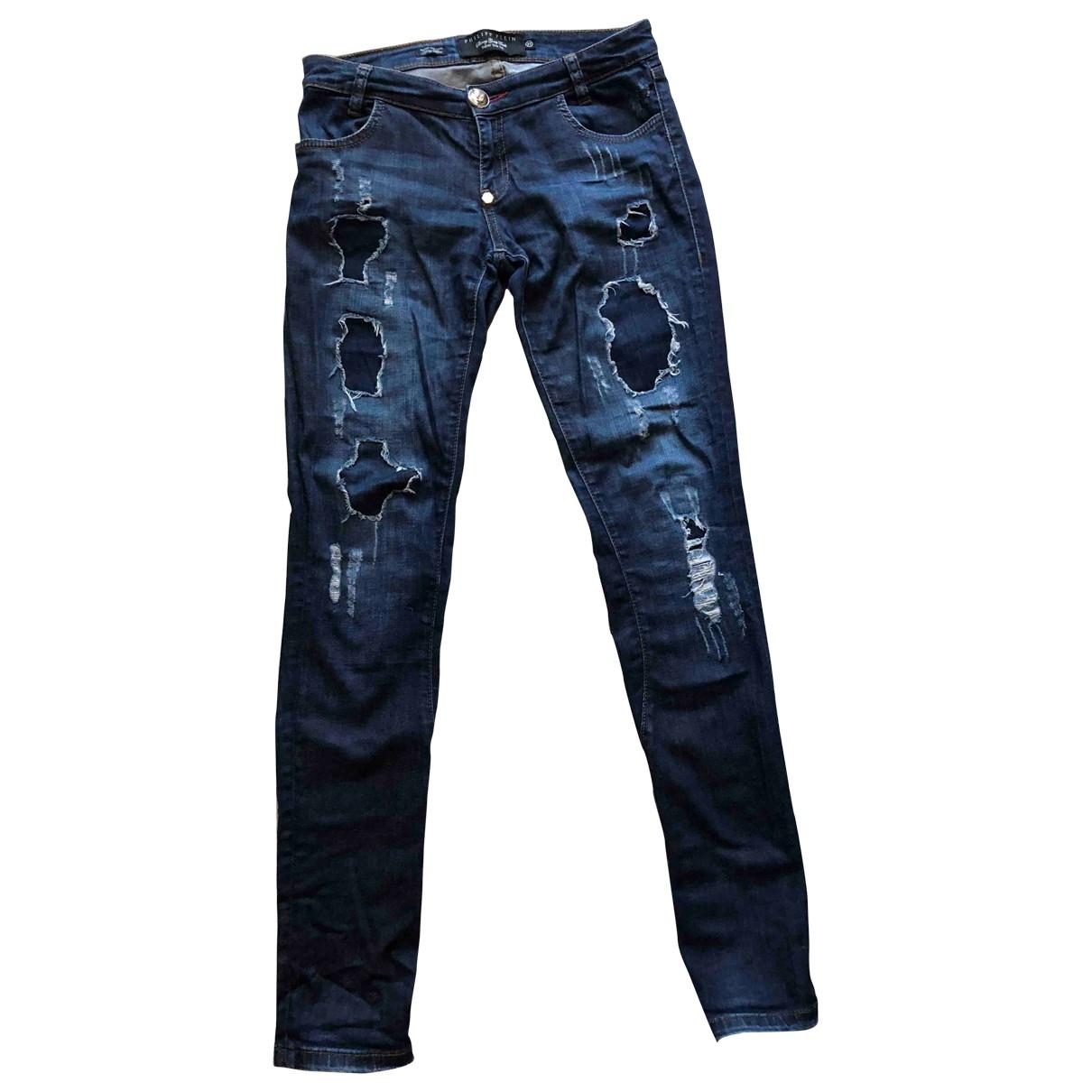 Philipp Plein \N Blue Denim - Jeans Jeans for Women 27 US