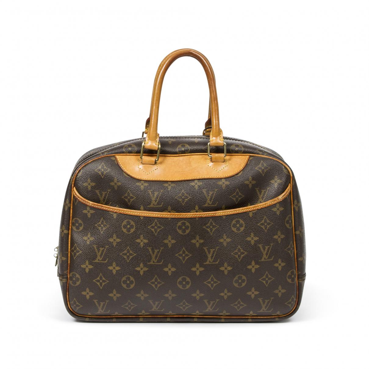 Louis Vuitton Deauville Handtasche in  Braun Baumwolle
