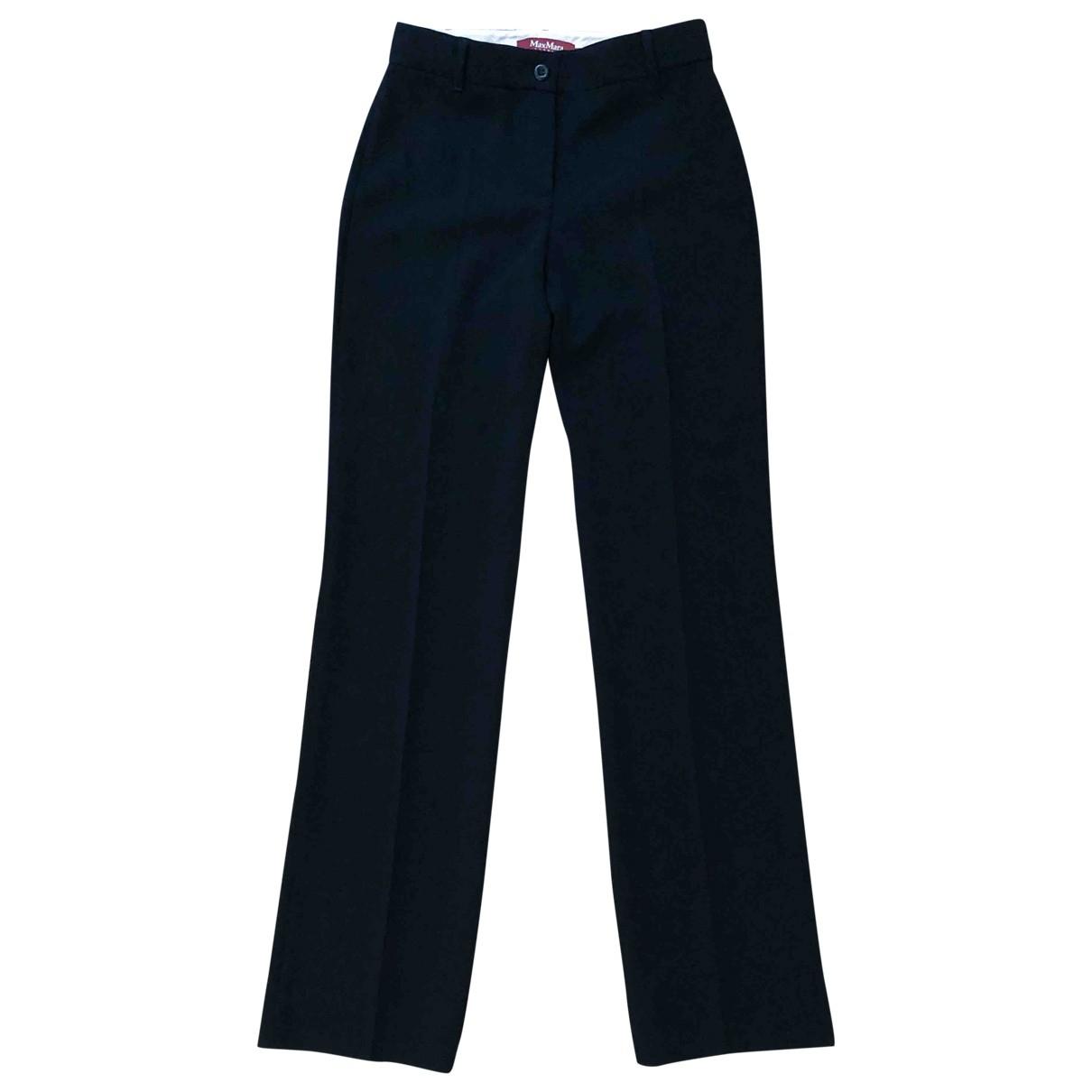 Max Mara Studio \N Black Trousers for Women 36 FR