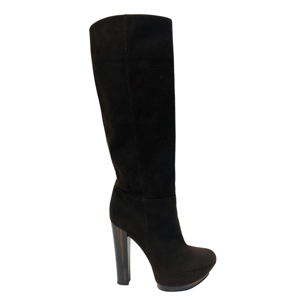 Casadei \N Brown Suede Boots for Women 38 EU