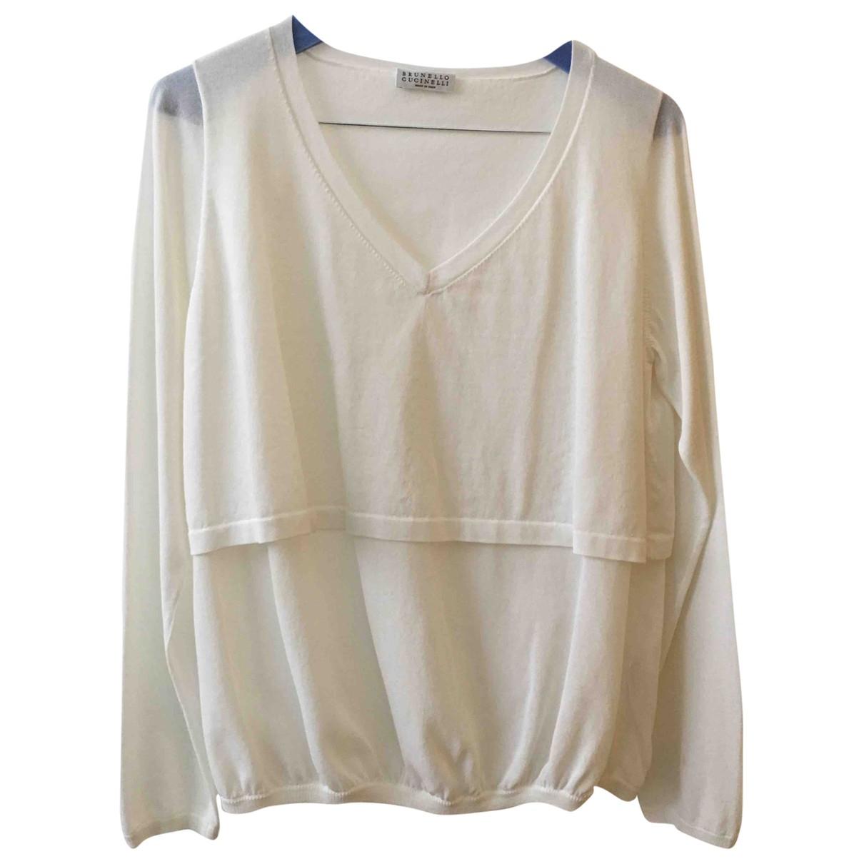 Brunello Cucinelli \N White Cotton Knitwear for Women M International