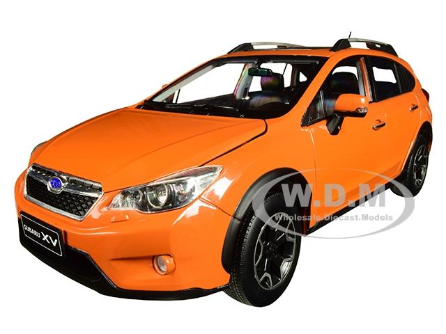 2014 Subaru XV with Sunroof Tangerine Orange 1/18 Diecast Model Car by SunStar