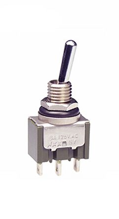 NKK Switches SPDT Toggle Switch, Latching, IP67, PCB