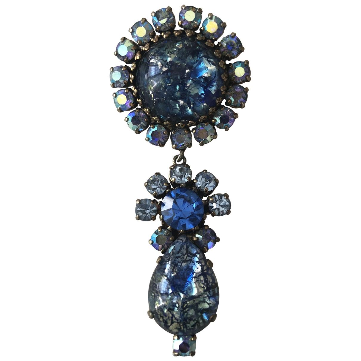 - Broche   pour femme en metal - bleu