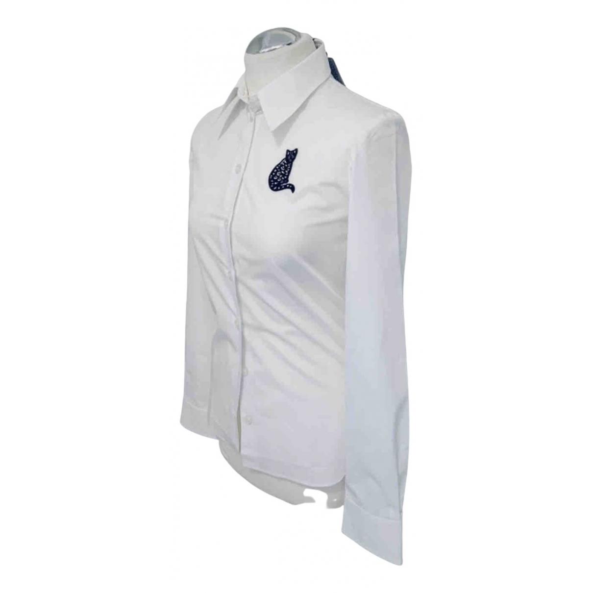 Cacharel - Top   pour femme en coton - blanc