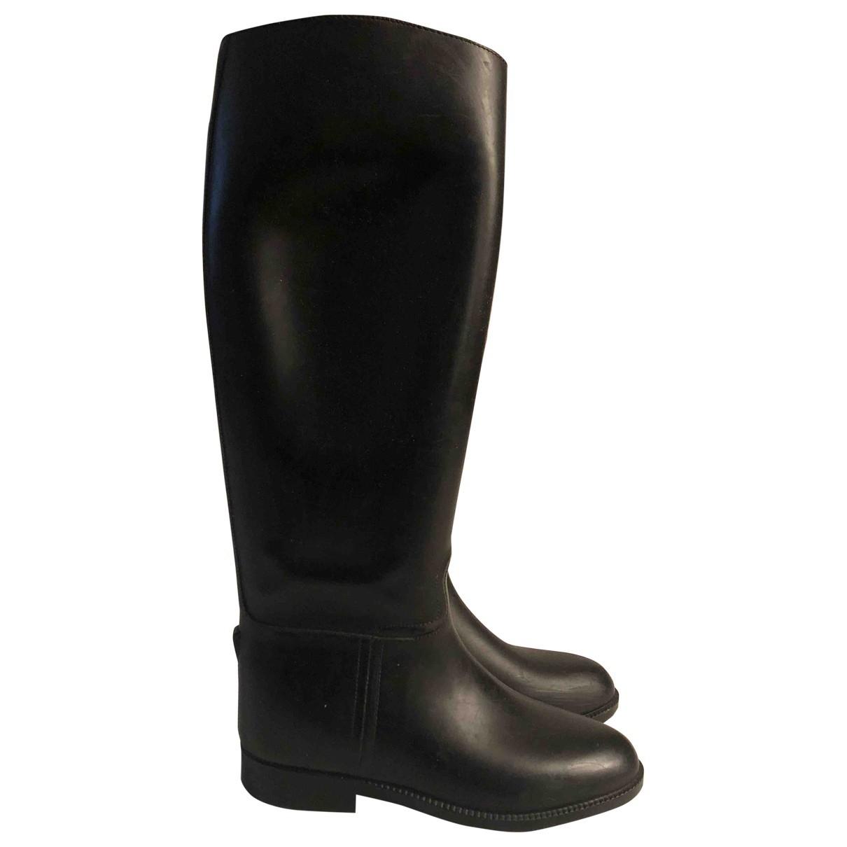 Aigle \N Black Rubber Boots for Women 37 EU
