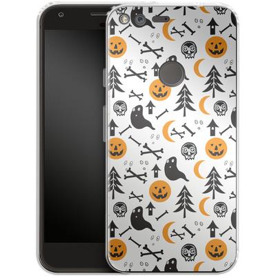 Google Pixel Silikon Handyhuelle - Halloween Mix von caseable Designs
