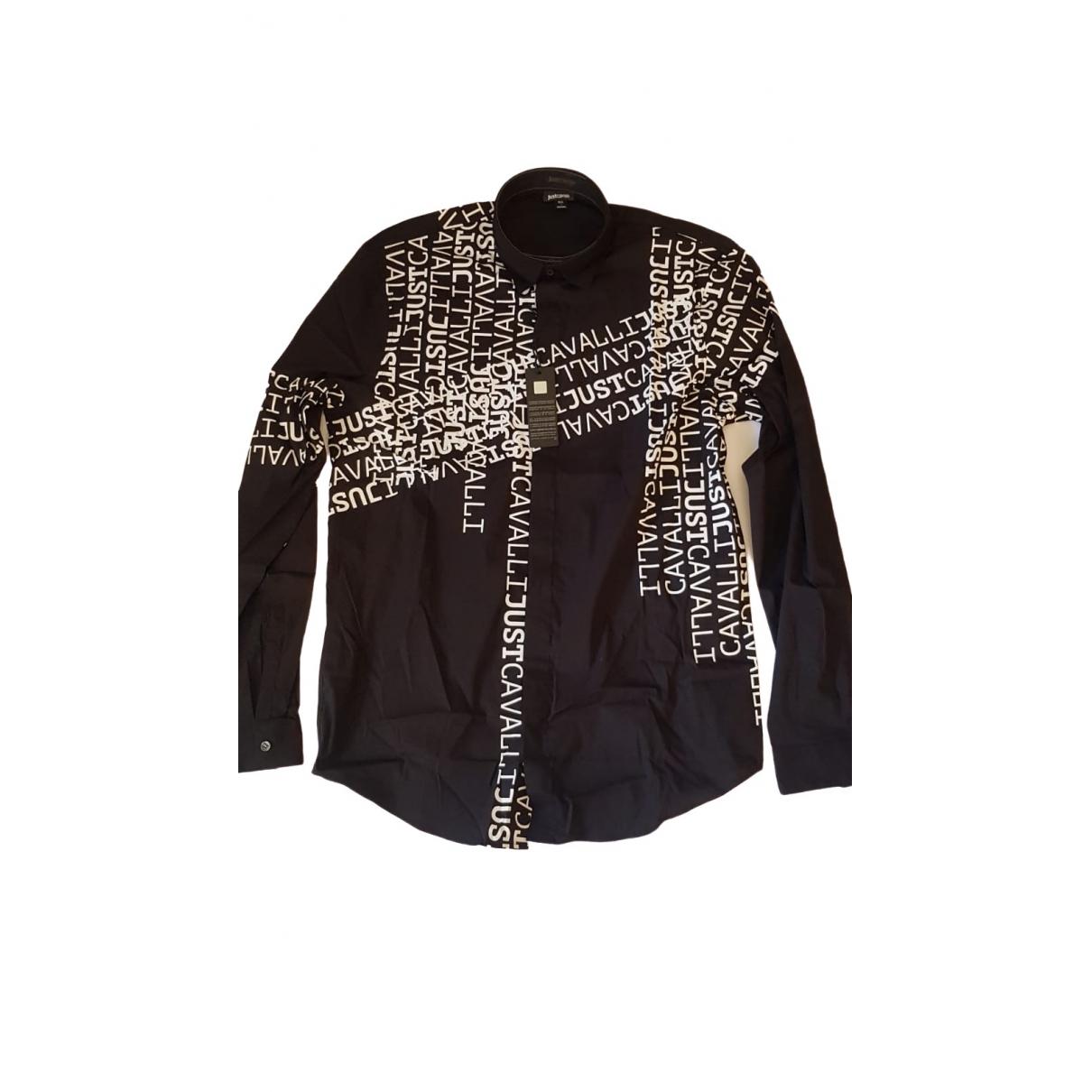 Just Cavalli - Chemises   pour homme en coton - noir