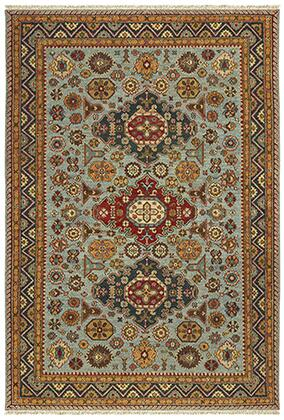 A12306244305ST Rectangle 8' X 10' Rug Pad with Oriental Pattern and Handcrafted