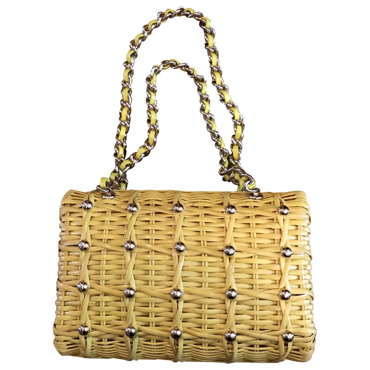 Kate Spade \N Yellow Wicker handbag for Women \N