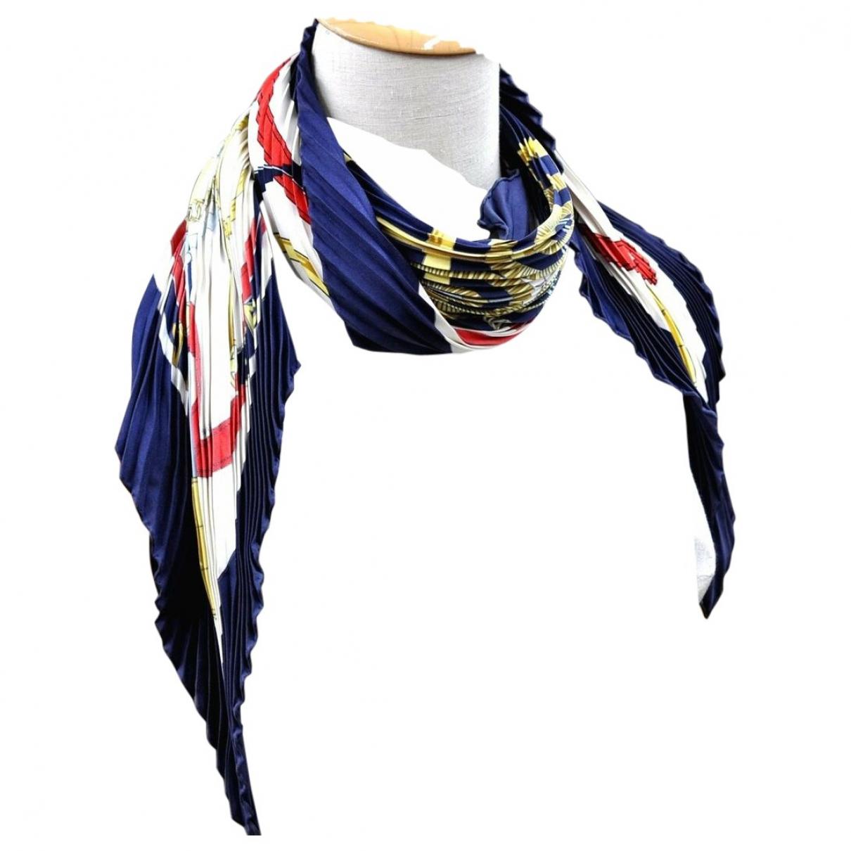 Hermes - Foulard   pour femme en soie - marine