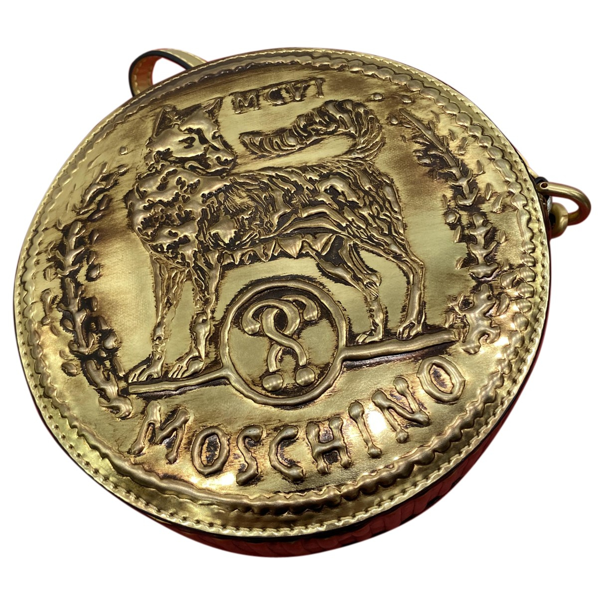 Moschino \N Clutch in  Gold Lackleder