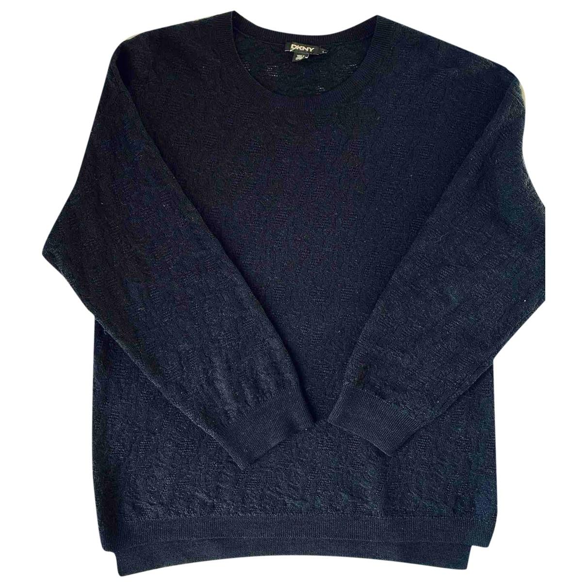 Donna Karan \N Pullover.Westen.Sweatshirts  in  Blau Wolle