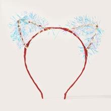 Aro de pelo con diseño de oreja de gato