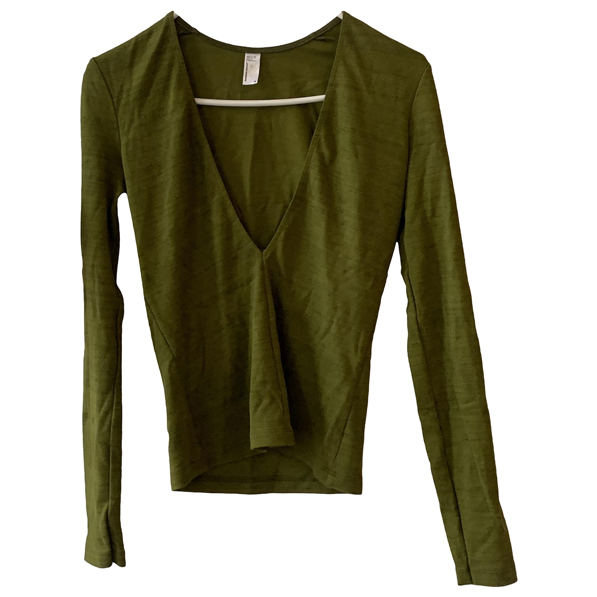 American Apparel \N Khaki Cotton  top for Women M International