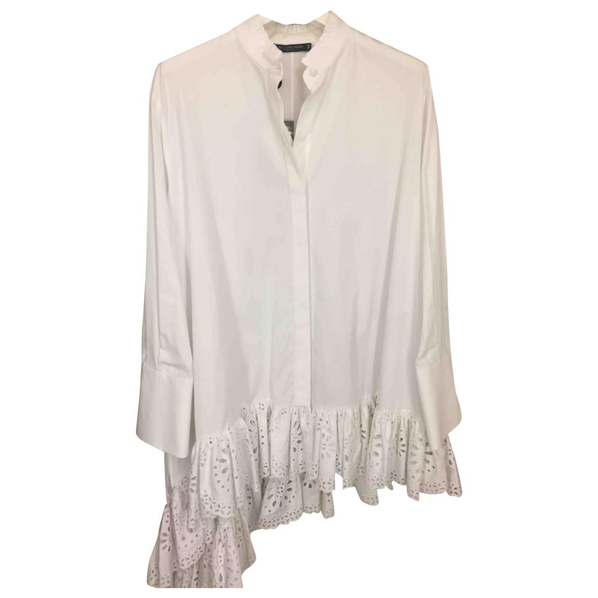Alexander Mcqueen - Robe   pour femme en coton - blanc