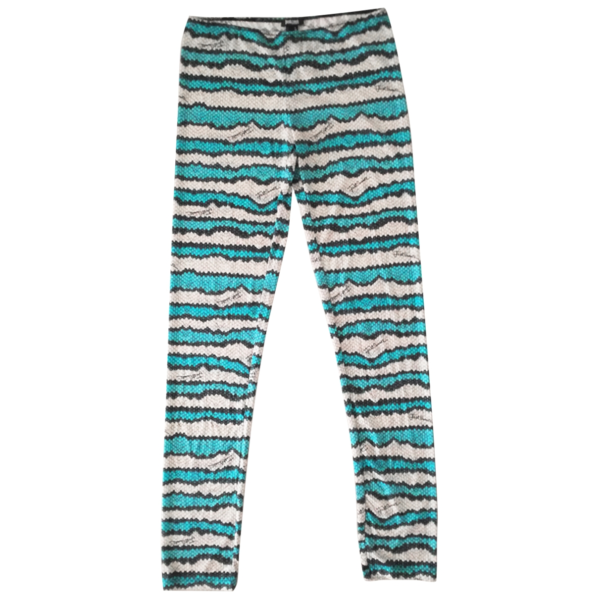 Just Cavalli \N Multicolour Trousers for Women 48 IT