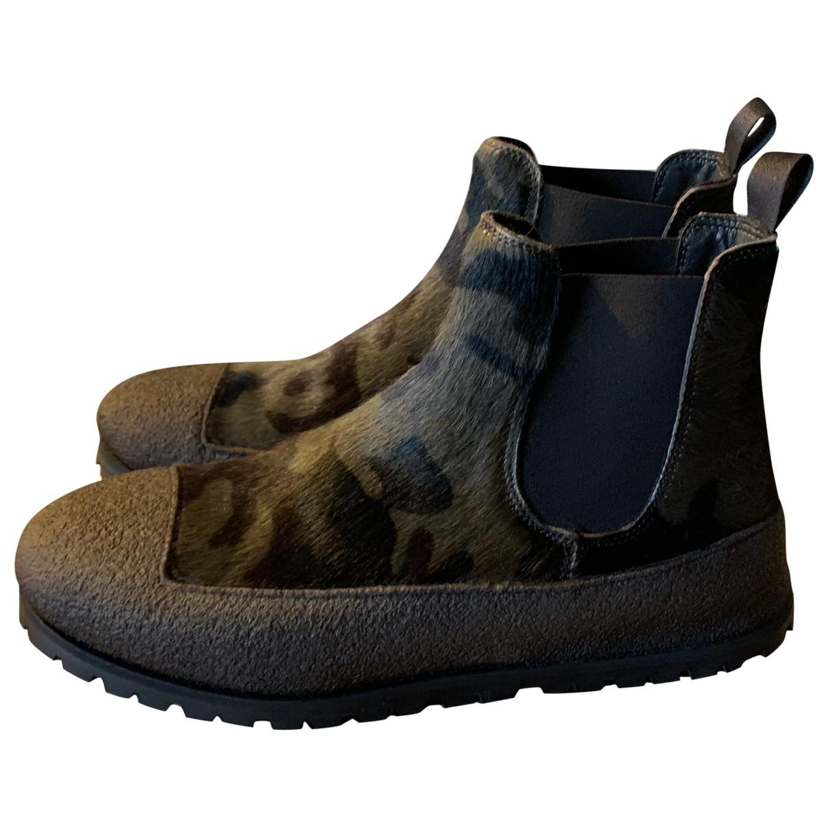 - Boots   pour femme en veau facon poulain - multicolore