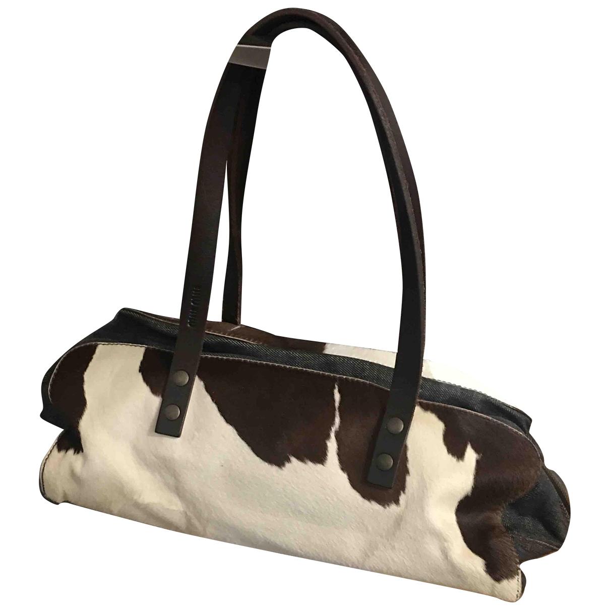 Miu Miu \N Brown Pony-style calfskin handbag for Women \N