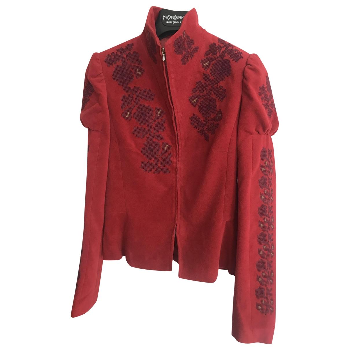 Kenzo - Veste   pour femme en velours - rouge