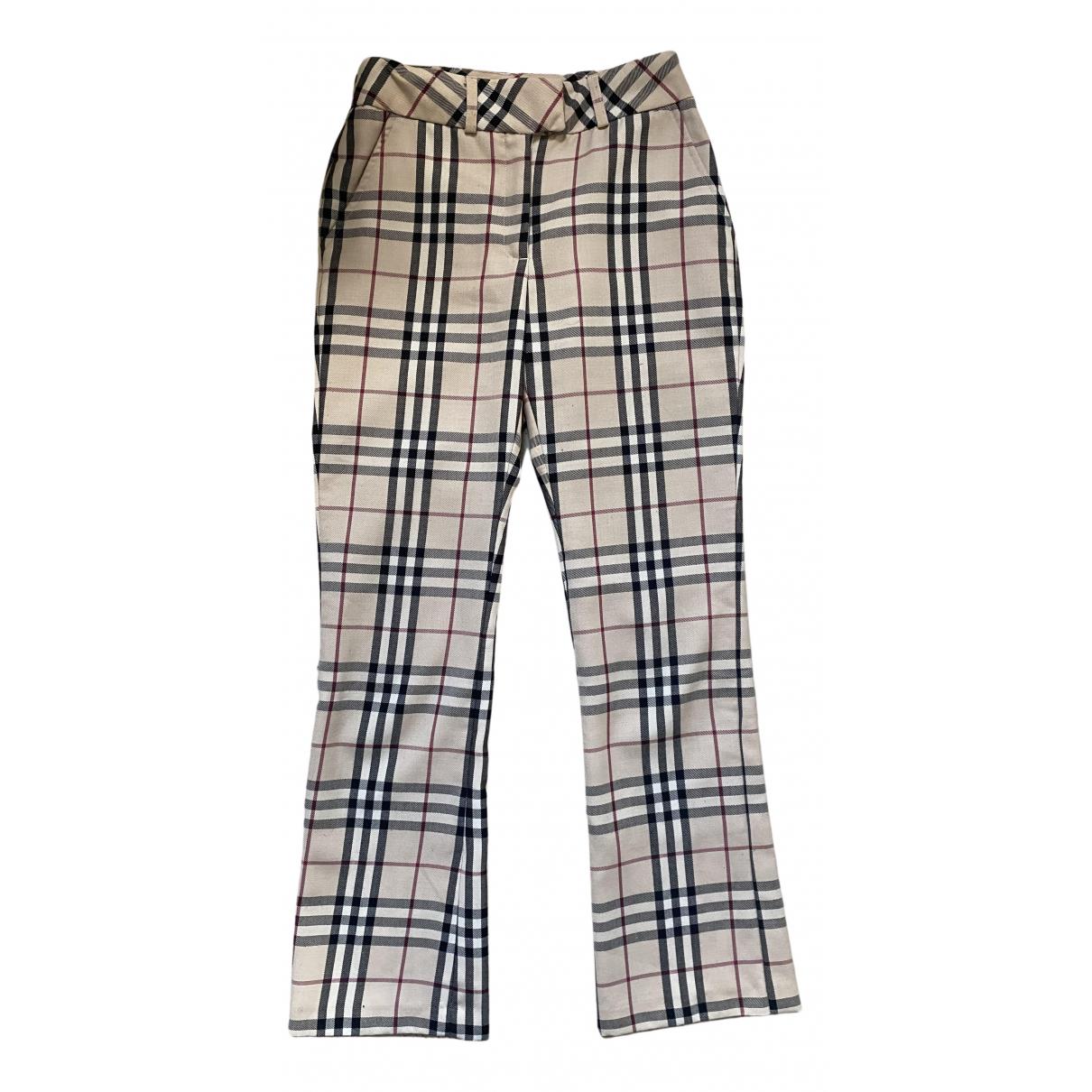 Burberry N Beige Trousers for Women 34 FR