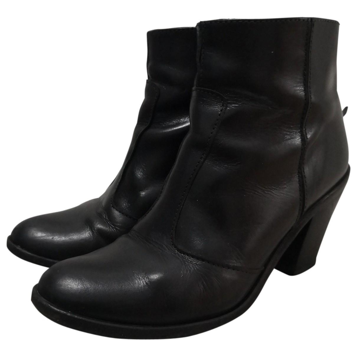 Hoss Intropia \N Stiefel in  Schwarz Leder