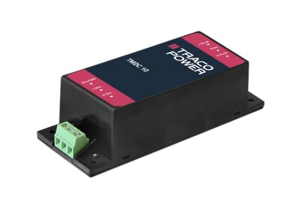 TRACOPOWER TMDC 10 10W Isolated DC-DC Converter Chassis Mount, Voltage in 18 → 75 V dc, Voltage out ±24V dc