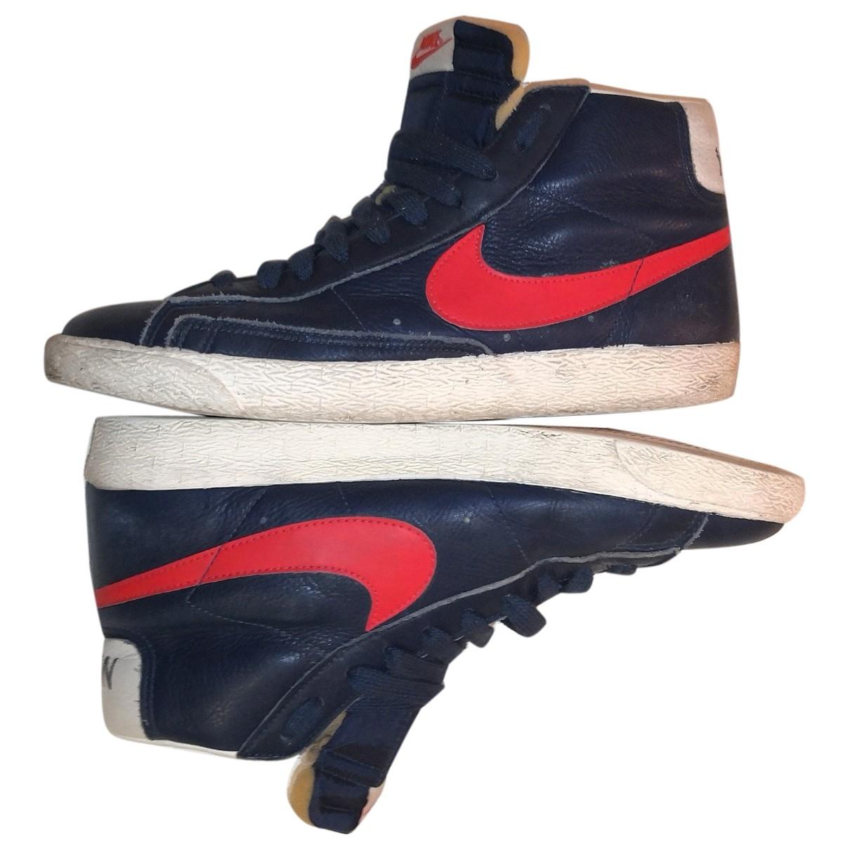 Nike Blazer Blue Leather Trainers for Men 44 EU
