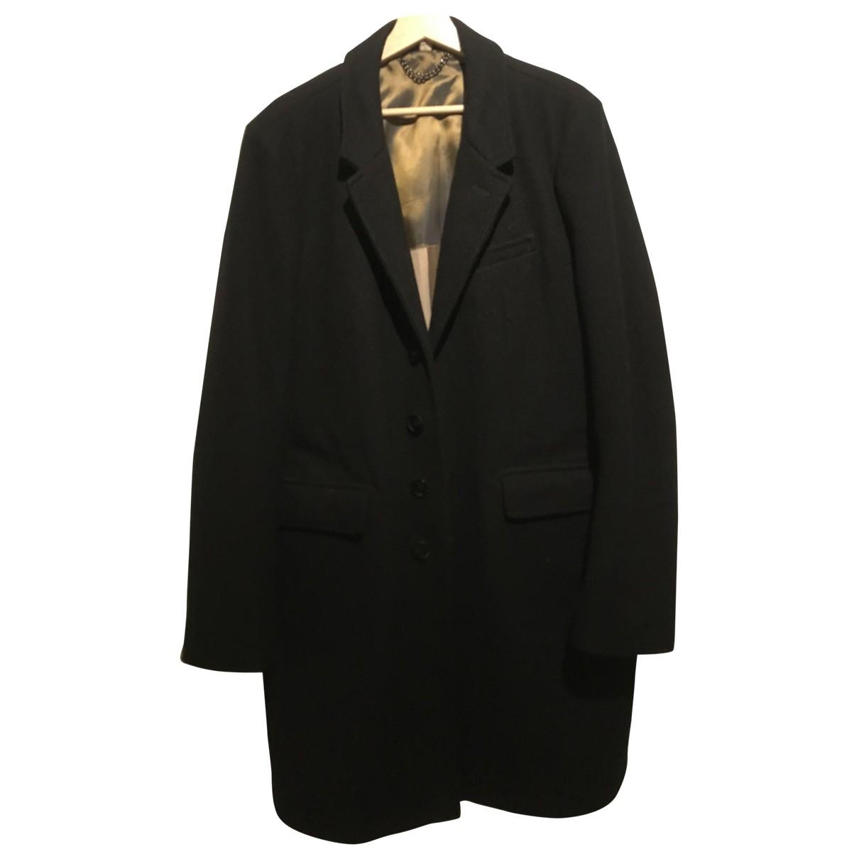 Burberry \N Black Wool coat  for Men XXL International