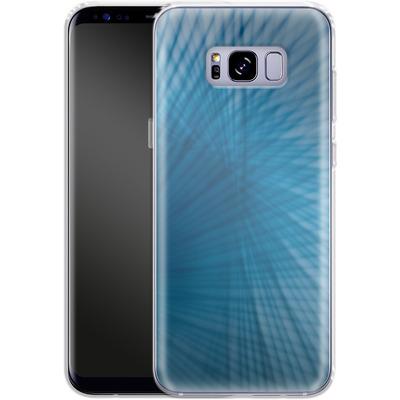 Samsung Galaxy S8 Plus Silikon Handyhuelle - Blue Lines von Joy StClaire