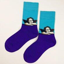 Maenner Socken mit Figur Muster