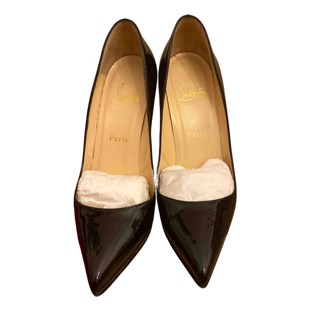 Christian Louboutin Pigalle Black Patent leather Heels for Women 38 EU
