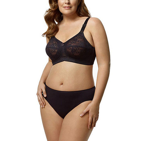 Elila Lace Softcup Full Coverage Bra, H , Black