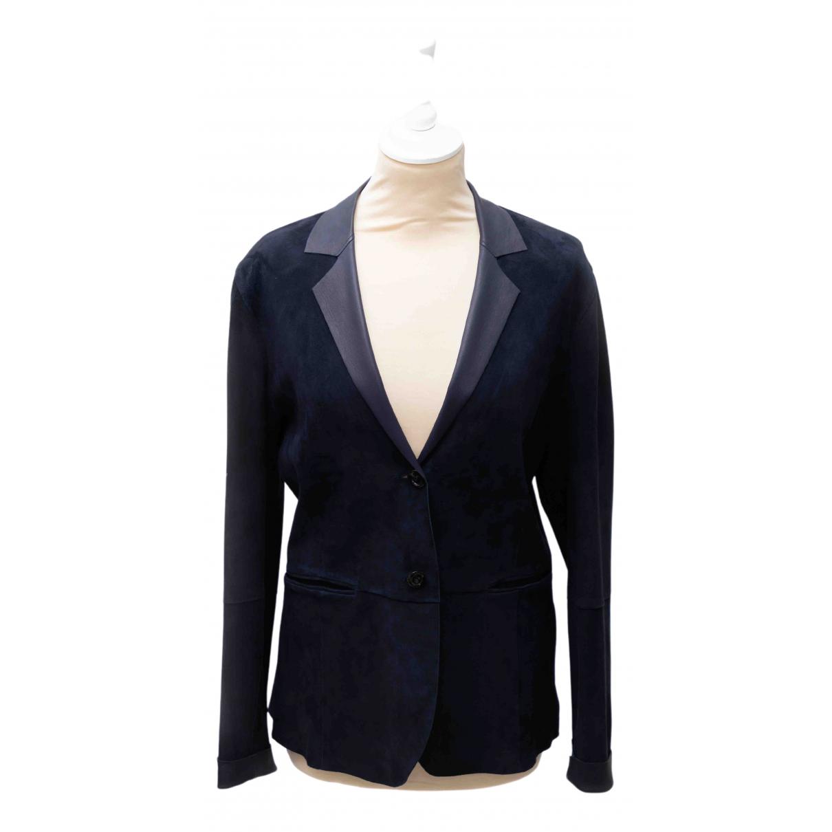 Fratelli Rossetti - Veste   pour femme en suede - bleu