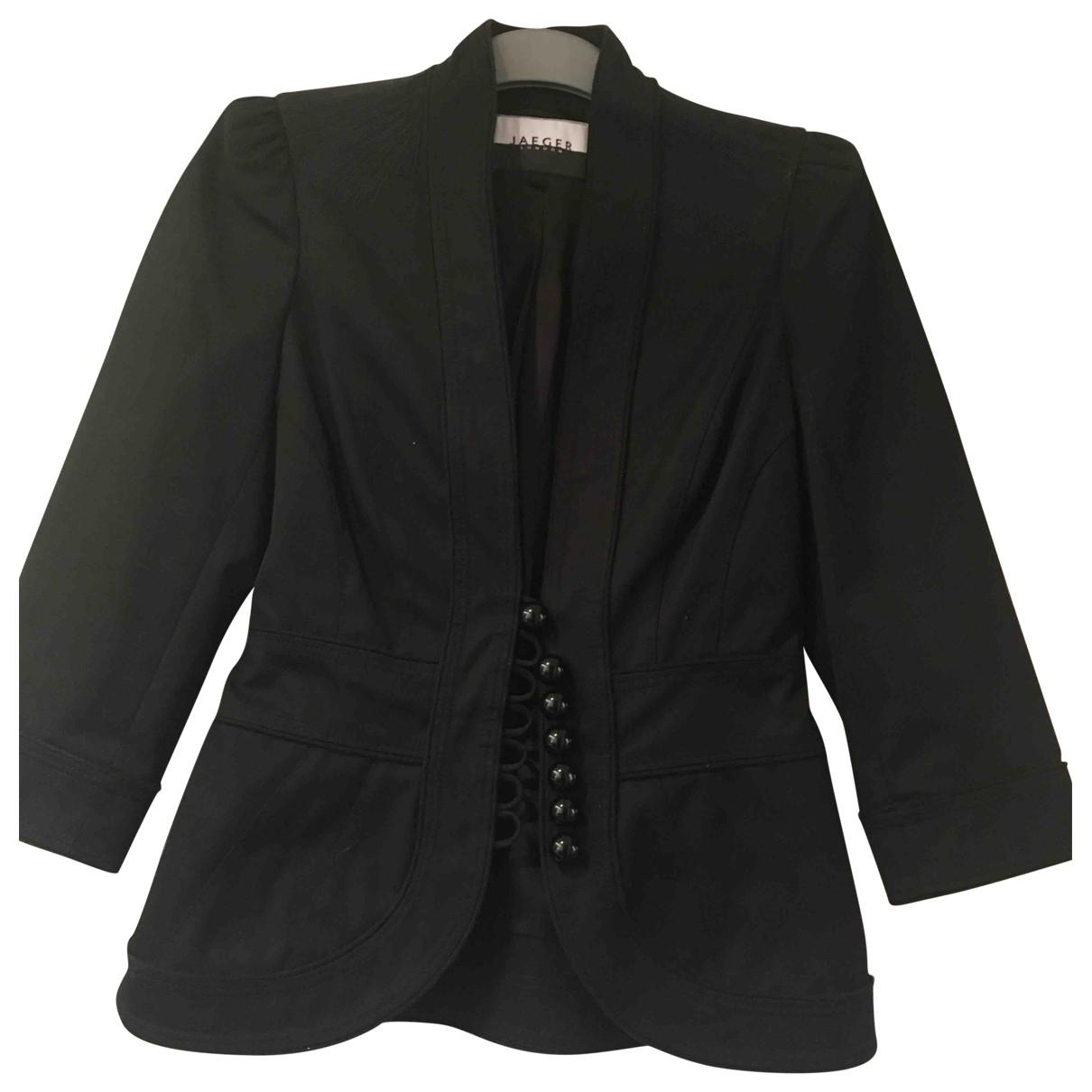 Jaeger London \N Black Cotton jacket for Women 10 UK