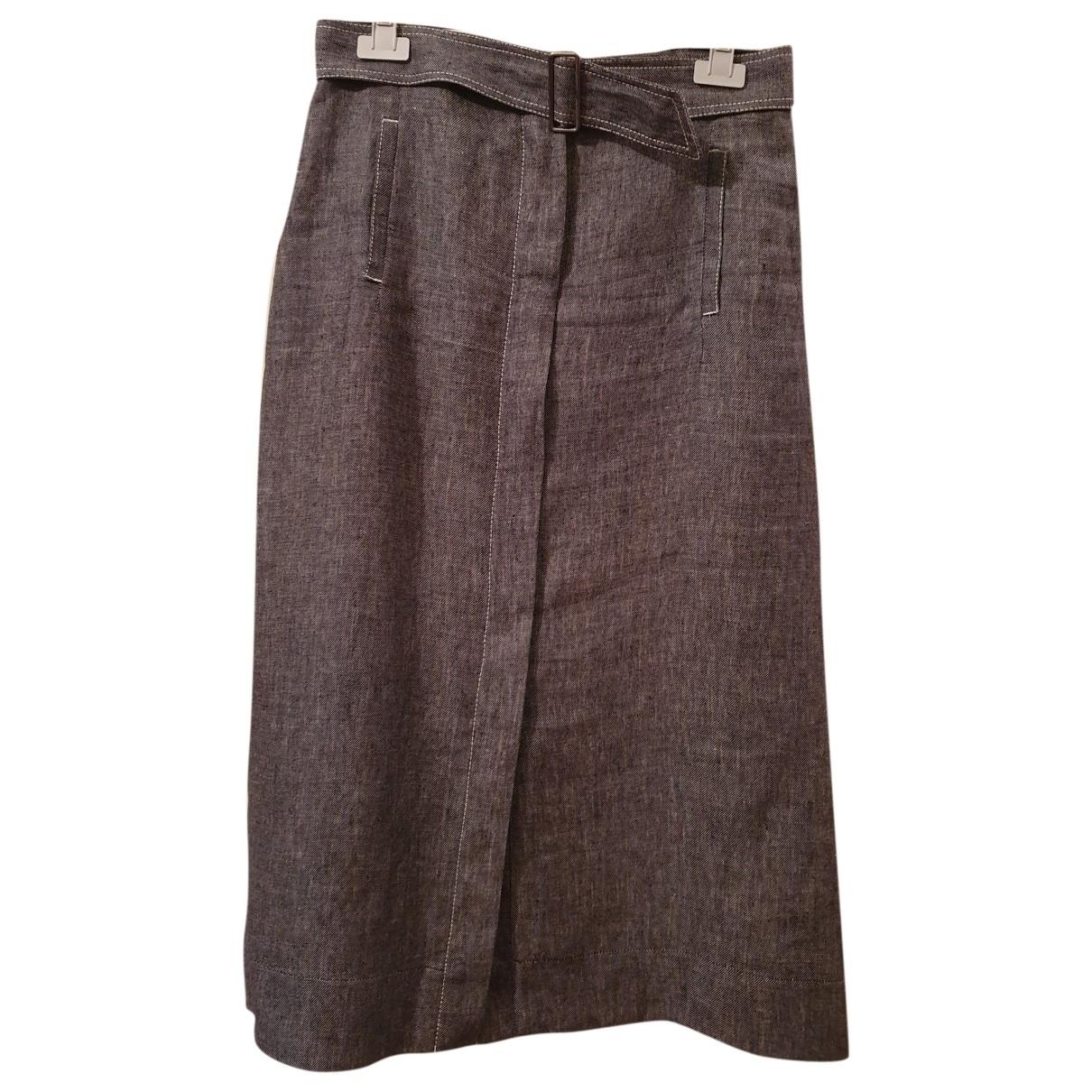 Pierre Cardin - Jupe   pour femme en lin - gris