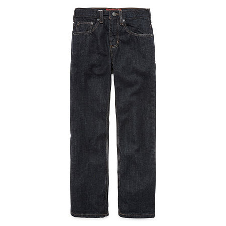 Arizona Flex Little & Big Boys Stretch Straight Leg Jean, 18 Husky , Blue