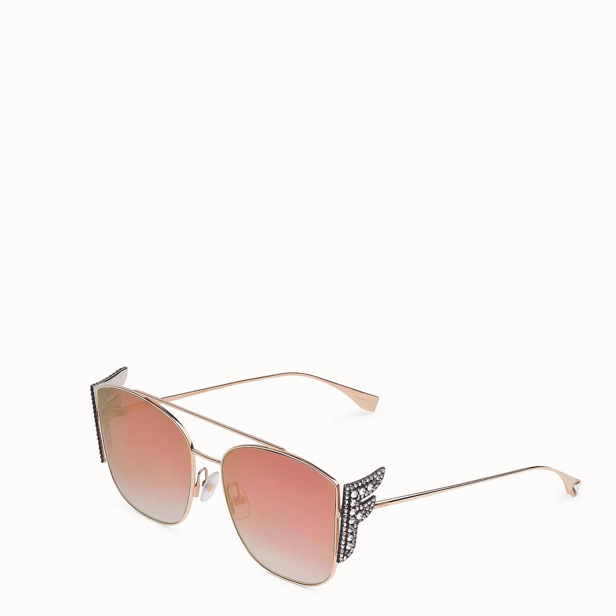 Fendi \N Gold Metal Sunglasses for Women \N